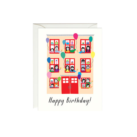 Happy Birthday Townhouse Card