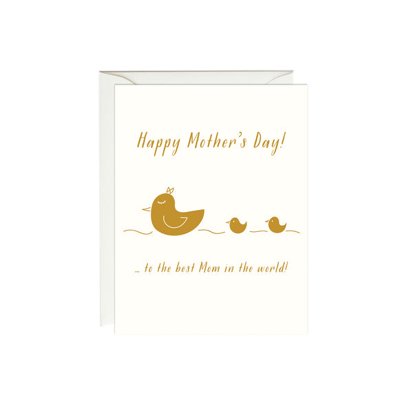 Mother's Day Duck Card (Gold Foil)