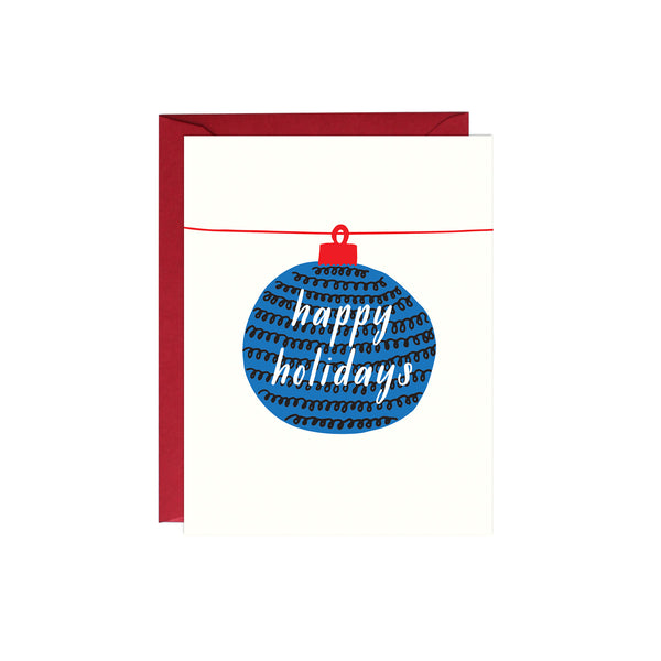 Happy Holidays Christmas Ornament Card