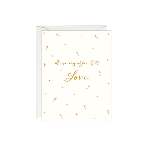 Showering You with Love Card (Gold Foil)