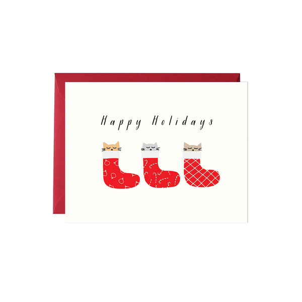 Kittens in Stockings Card