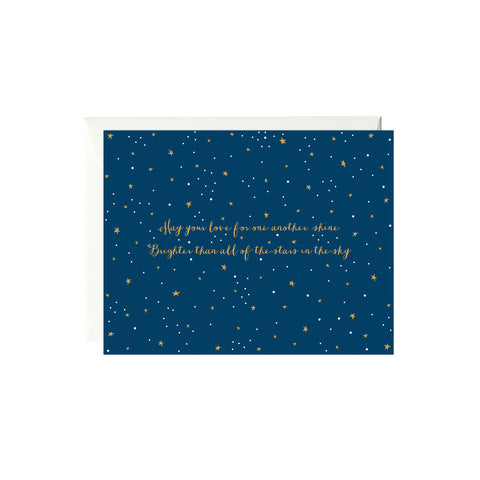 Stars in the Sky Card (Gold Foil)