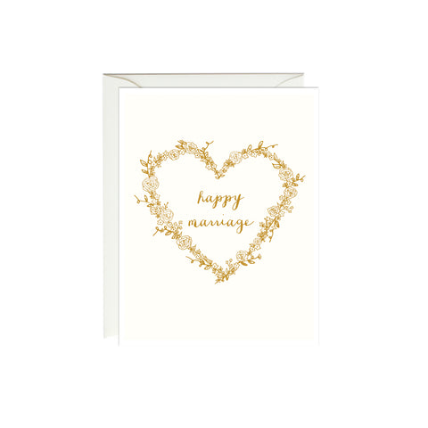 Happy Marriage Card (Gold Foil)