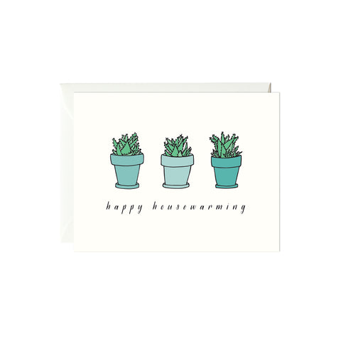 Happy Housewarming Succulents Card