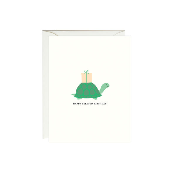 Belated Birthday Turtle Card