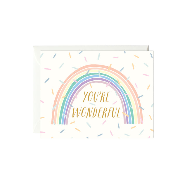 You're Wonderful Card (Gold Foil)