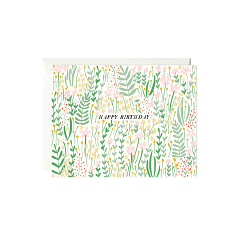 Garden Florals Birthday Card