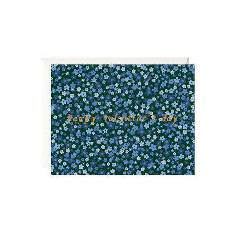Florals Valentine's Day Card (Gold Foil)