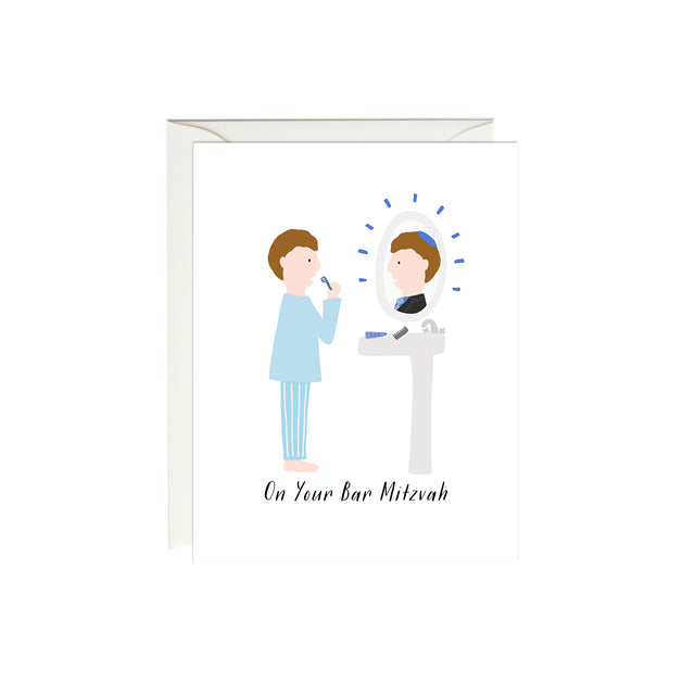 Bar Mitzvah Mirror Card