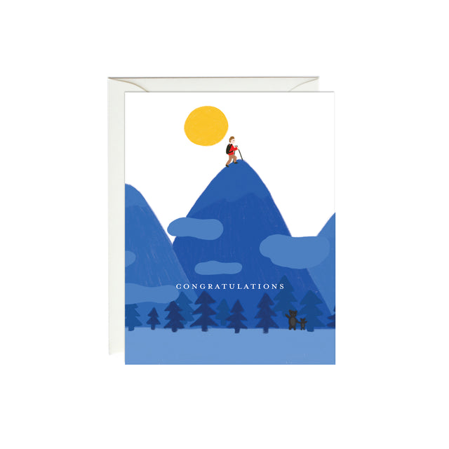 Top of a Mountain Congratulations Card