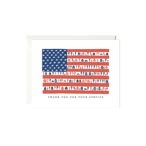 Flag Thank You Card