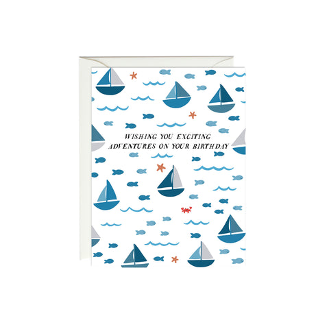Sailboats Birthday Card