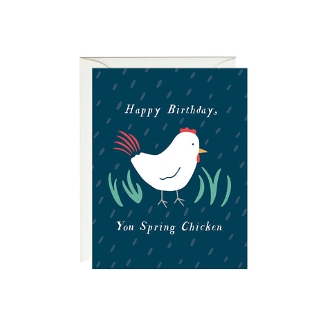 Spring Chicken Birthday Card