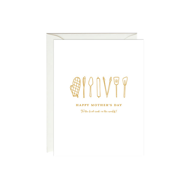 Best Cook Mother's Day Card (Gold Foil)
