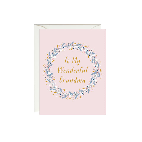 Best Grandma Card (Gold Foil)