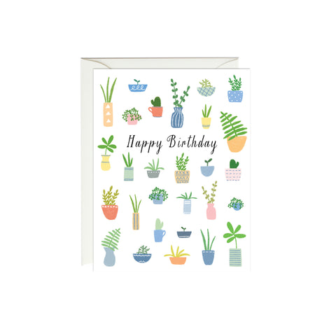 Plants Birthday Card