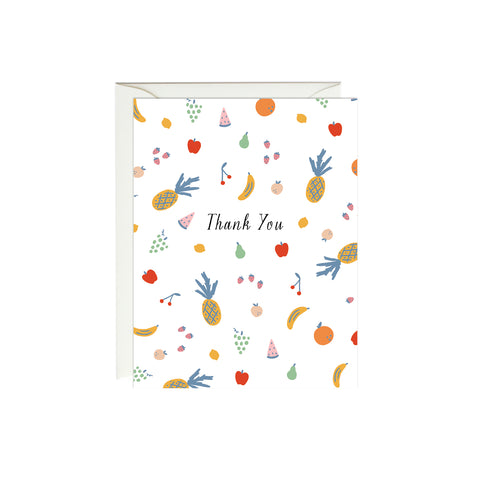 Colorful Fruits Thank You Card