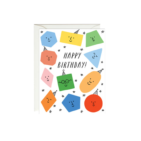 Birthday Shapes Birthday Card