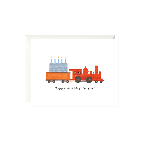 Birthday Train Birthday Card