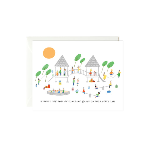 Playground Party Birthday Card