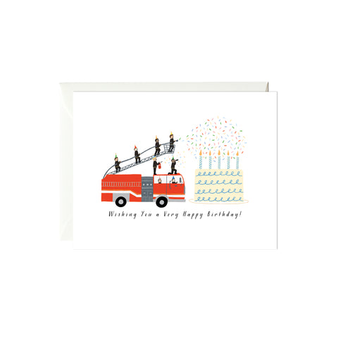 Birthday Firetruck Birthday Card