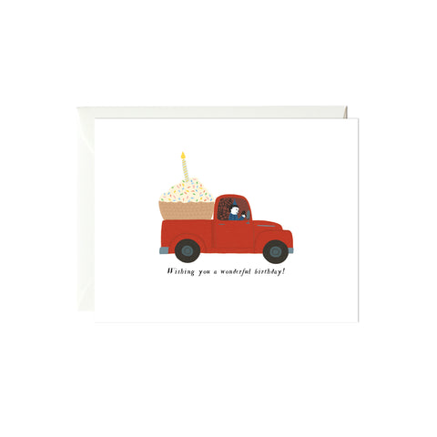 Birthday Truck Birthday Card
