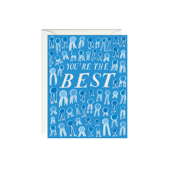 You're the Best Blue Ribbons Card