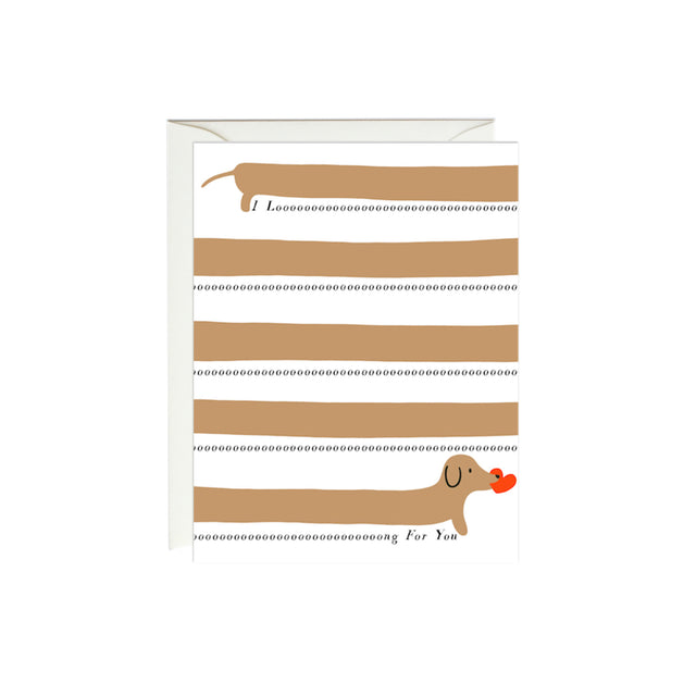 Long For You Dachshund Card