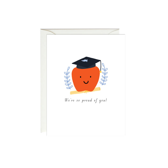 Apple Graduation Card