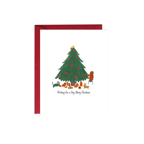 Forest Animals Christmas Card