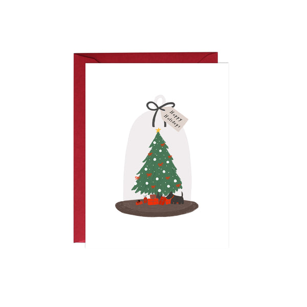Christmas Tree Cloche Card