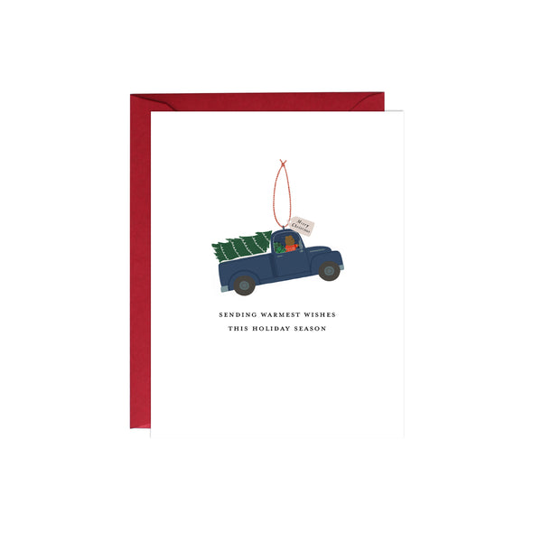 Truck Ornament Holiday Card