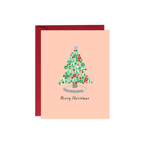 Modern Christmas Tree Card