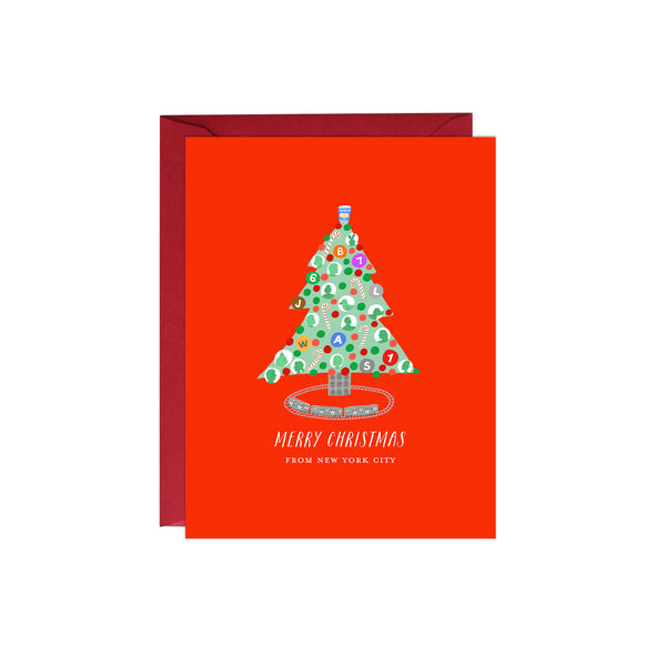 NYC Christmas Tree Card