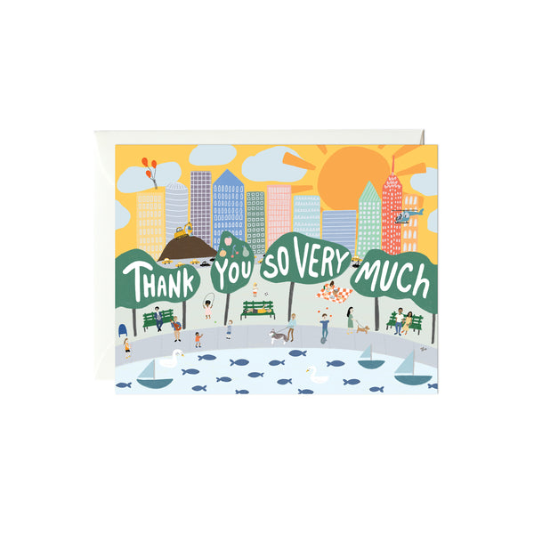 City Scene Thank You Card