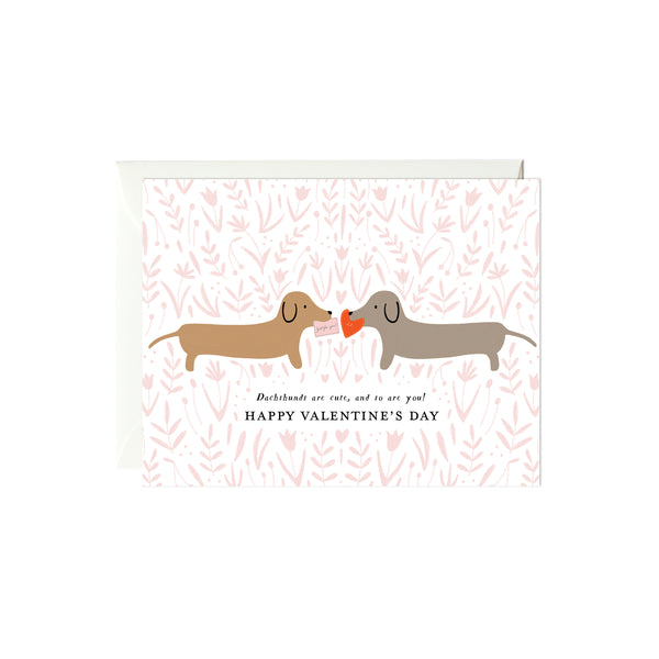 Dachshunds Valentine's Day Card