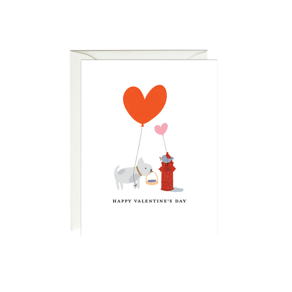 French Bulldog & Bird Valentine's Day Card