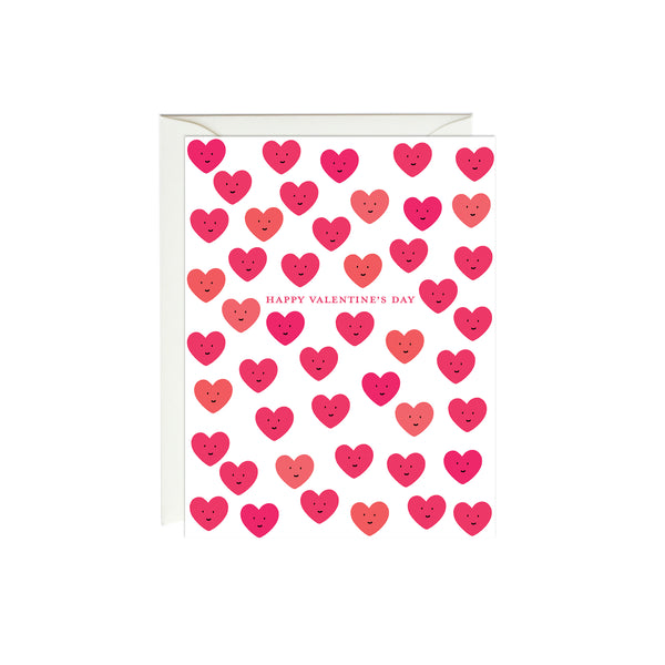 Cute Hearts Valentine's Day Card