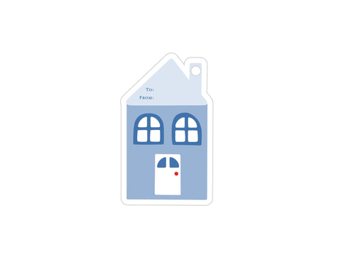 House - Set of 5 Die Cut Tags