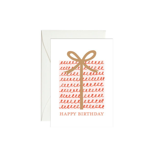 Birthday Present Mini Enclosure Card