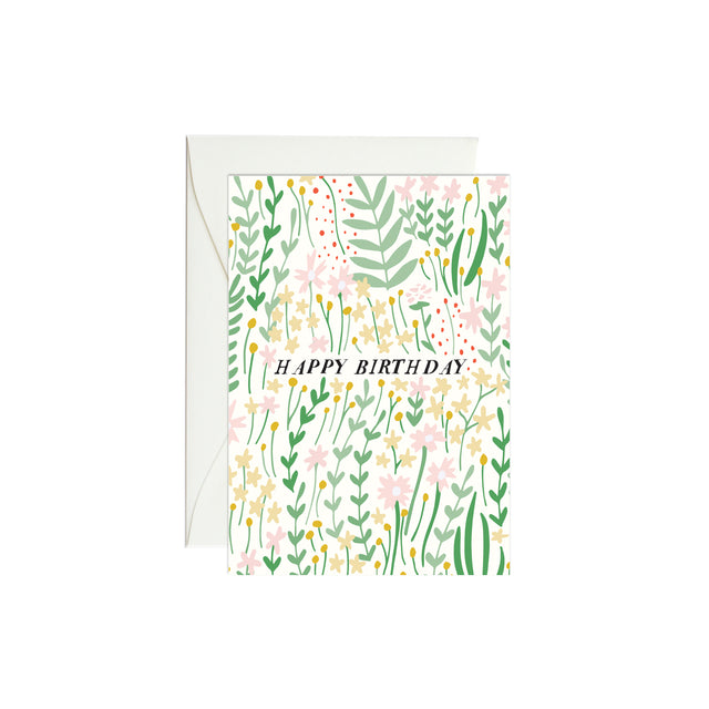 Birthday Garden Florals Mini Enclosure Card