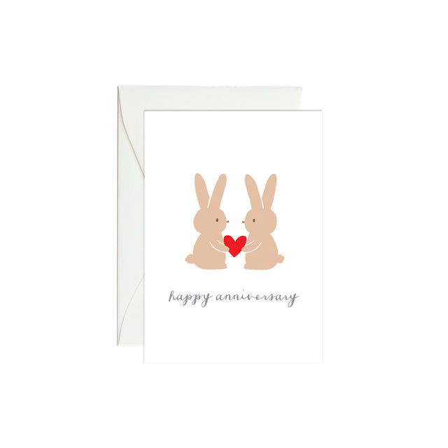 Bunny Anniversary Mini Enclosure Card