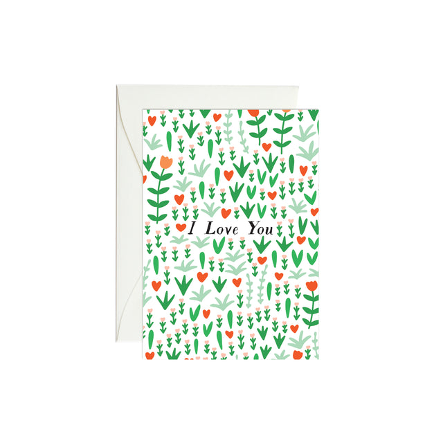 Bright Blooms I Love You Mini Enclosure Card