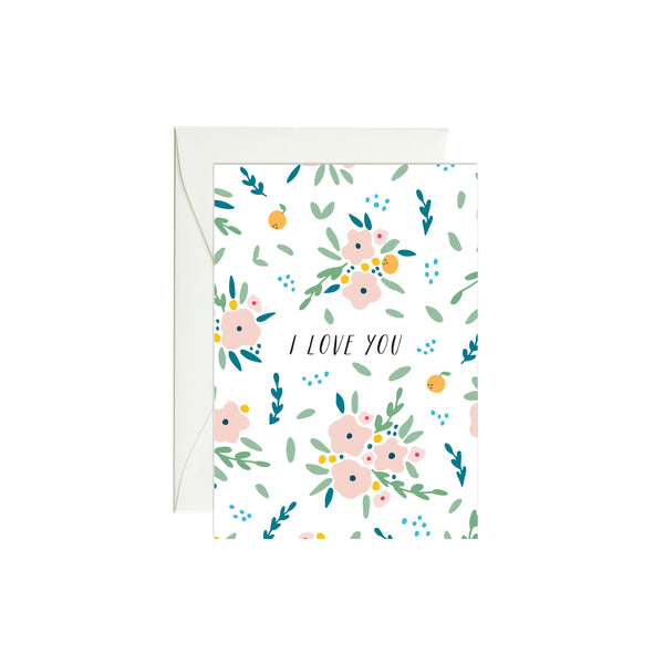 Bouquets I Love You Mini Enclosure Card
