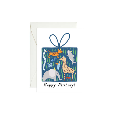 Wild Birthday Mini Enclosure Card