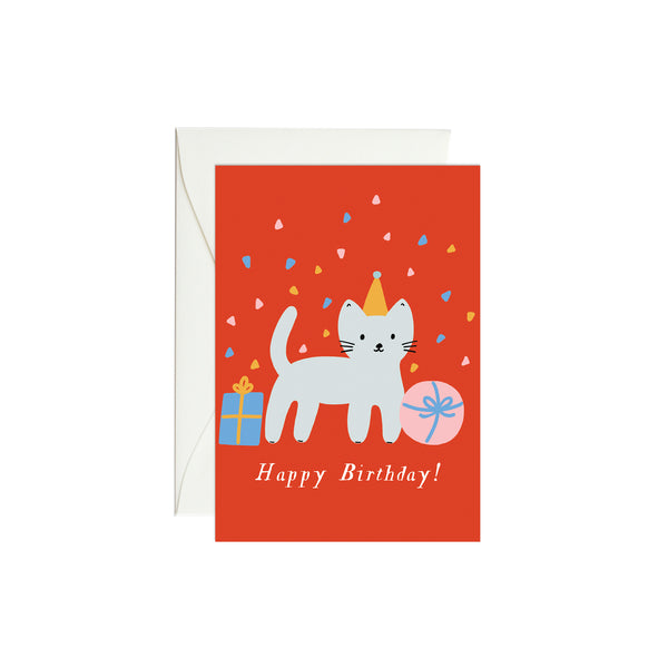 Cat Birthday Mini Enclosure Card