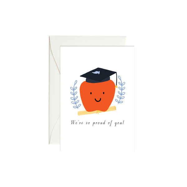 Apple Graduation Mini Enclosure Card