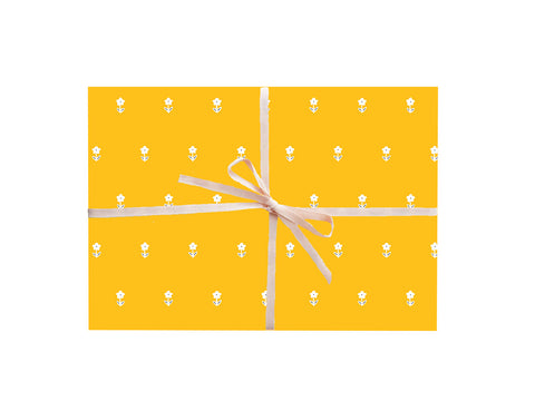 Yellow Florals Wrapping Sheets