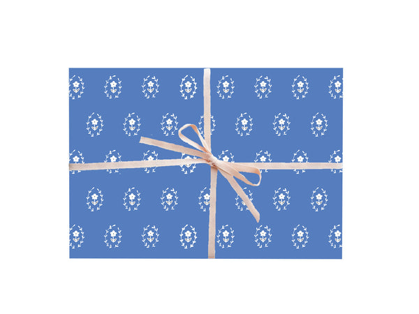 Blue Daisies Floral Wrapping Sheets