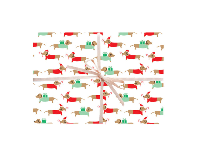 Christmas Dachshunds Wrapping Sheets